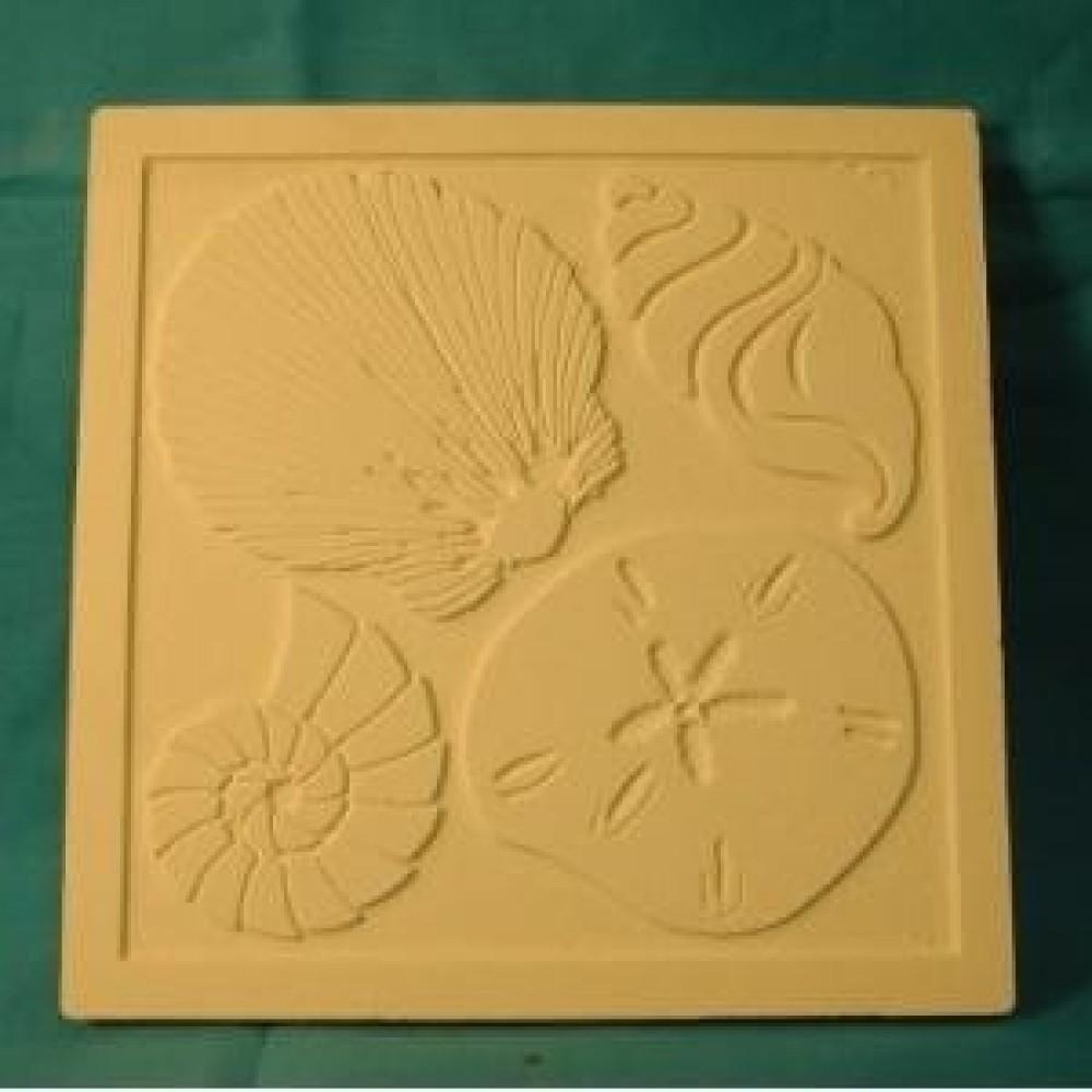 4 Shells Tile- Case of 6